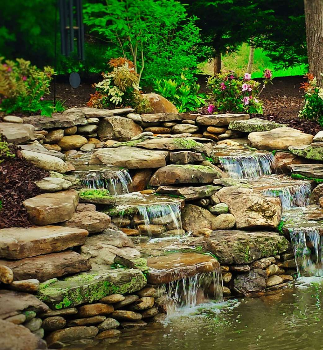 Elevate your landscape with garden waterfalls